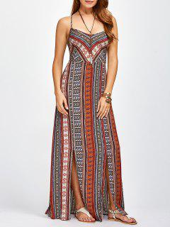 Sweetheart Cami Maxi Bohemian Dress - Orange Red S