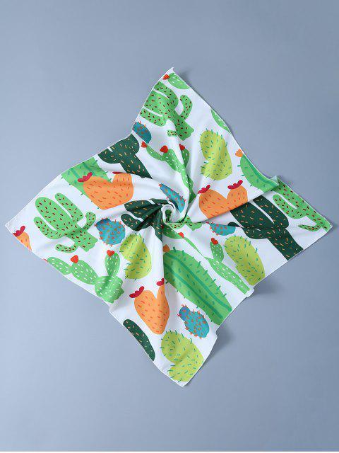 Kaktus Taschentuch Schal - Weiß  Mobile