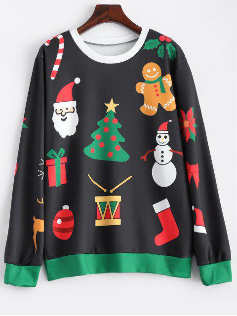 outfit Christmas Snowflake Sweatshirt - BLACK ONE SIZE Mobile