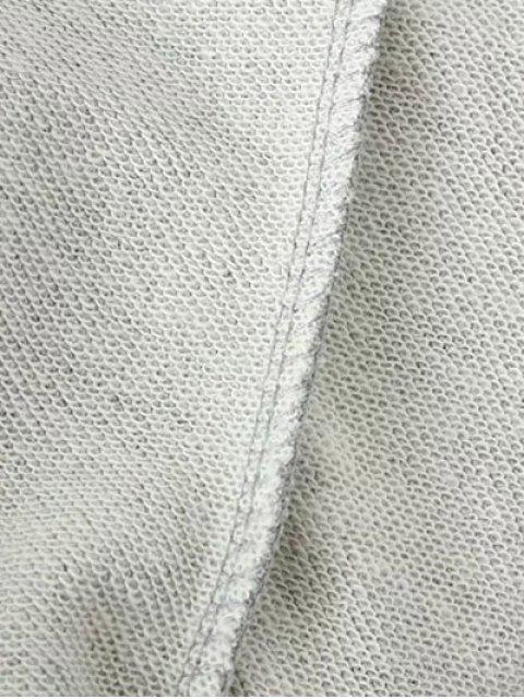 trendy Sequins Raglan Sleeve Sweatshirt - GRAY S Mobile