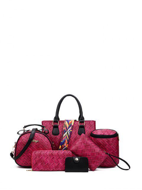 Tejiendo bolso con correa de color - Rosa Roja  Mobile