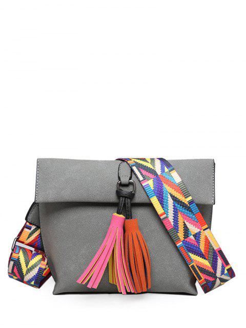 Borlas de cierre magnético del bloque del color del bolso de Crossbody - Gris  Mobile