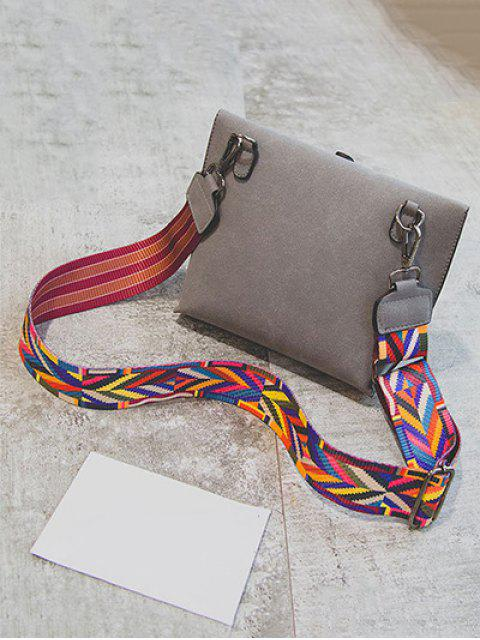 women's Tassels Magnetic Closure Colour Block Crossbody Bag - GRAY  Mobile