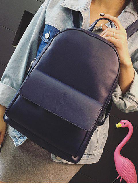 hot Removable Fringe PU Leather Backpack - BLUE  Mobile