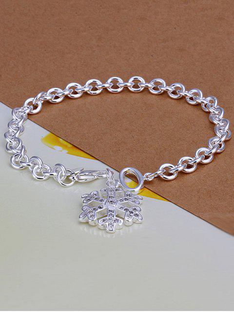 Barcelet charmant motif flocons de neige Noël - Argent  Mobile