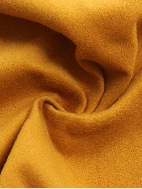 women Wool Blend Shawl Collar Belted Waistcoat - DEEP GRAY XL Mobile