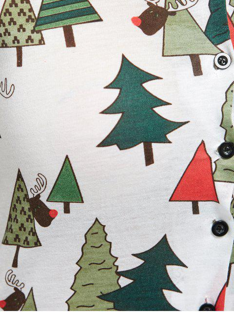fancy Christmas Tree Print Pajamas - GREEN S Mobile