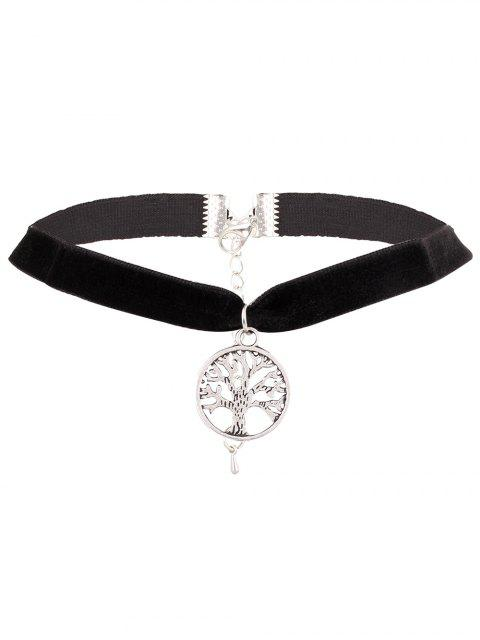 womens Adorn Life Tree Velvet Choker Necklace -   Mobile