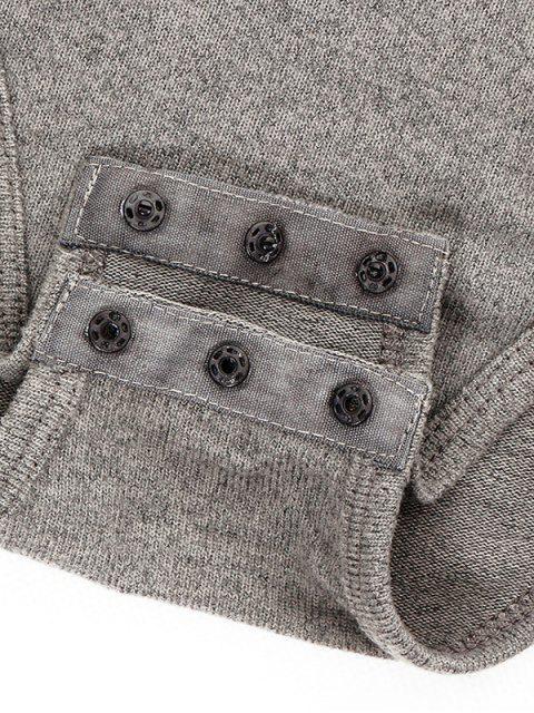 Combinaison collant à col haut à manches attachées de gants - Noir M Mobile