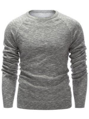 Pull  ras du cou à manches raglan tricoté