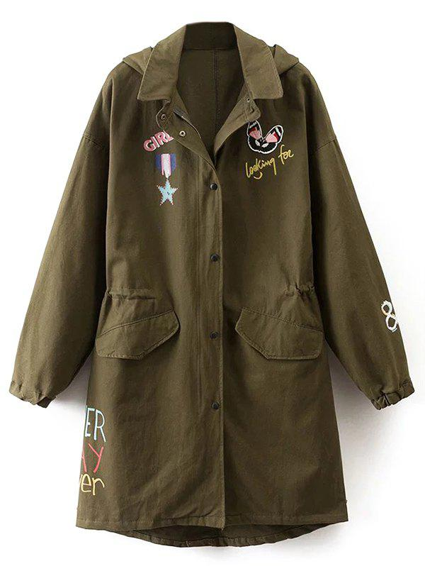 Printed Hooded Lightweight Coat 201214202