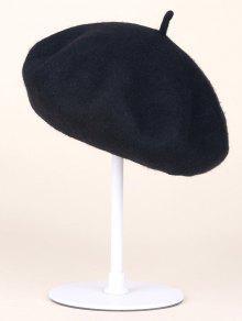 Buy Autumn Winter Wool Beanie Beret - BLACK