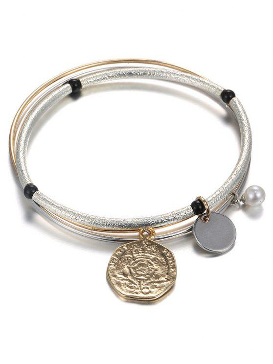sale Layered Coin Bracelet - CHAMPAGNE