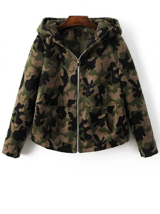 c12b8136531c 25% OFF  2019 Camo Print Hooded Jacket In CAMOUFLAGE COLOR