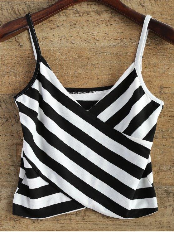outfit Stripes V Neck Surplice Cami Top - STRIPE ONE SIZE