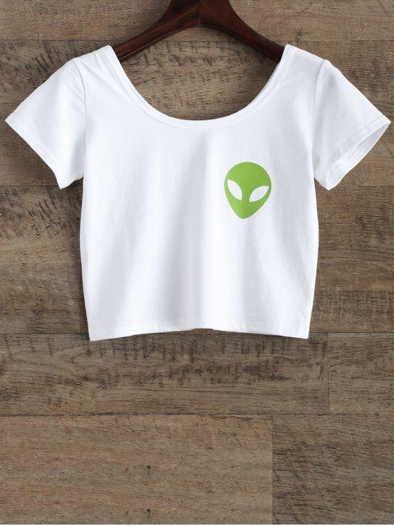 online Funny Crop Top - WHITE M