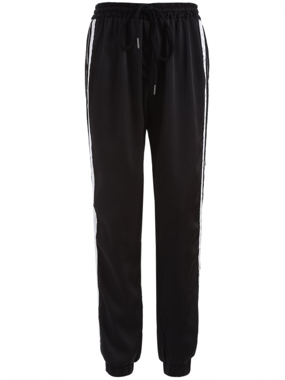 A righe con coulisse Gym Pants - Nero XL