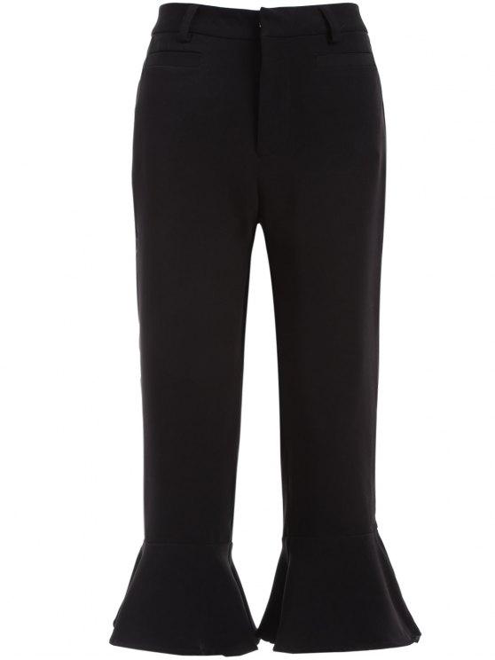 Pantalones puños de volantes - Negro M