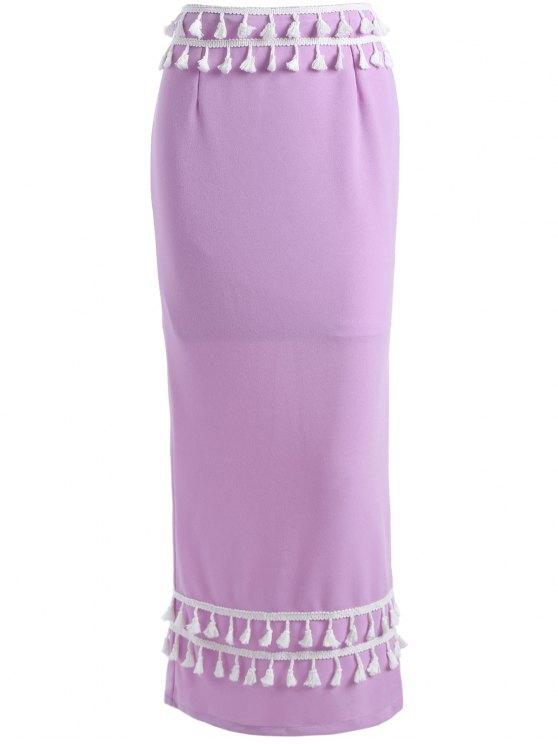 تنورة ماكسي ميميرد - أرجواني XL