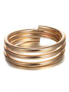 Copper Spiral Bracelet - Golden