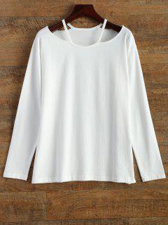 Cami Cut Out T-Shirt - Blanc
