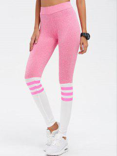 High Waist Skinny Yoga Leggings - Pink S