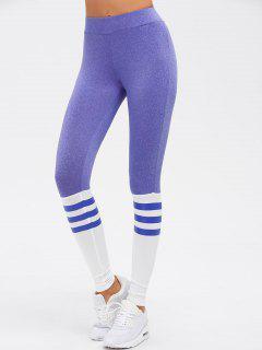 High Waist Skinny Yoga Leggings - Purple S