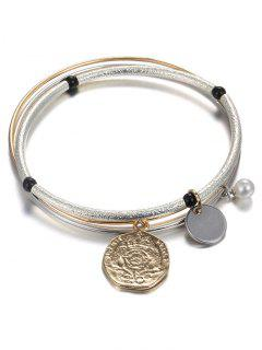 Layered Coin Bracelet - Champagne