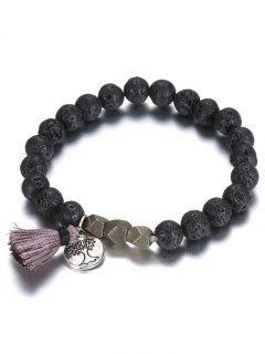 Perles Arbre Fringe Bracelet - Noir