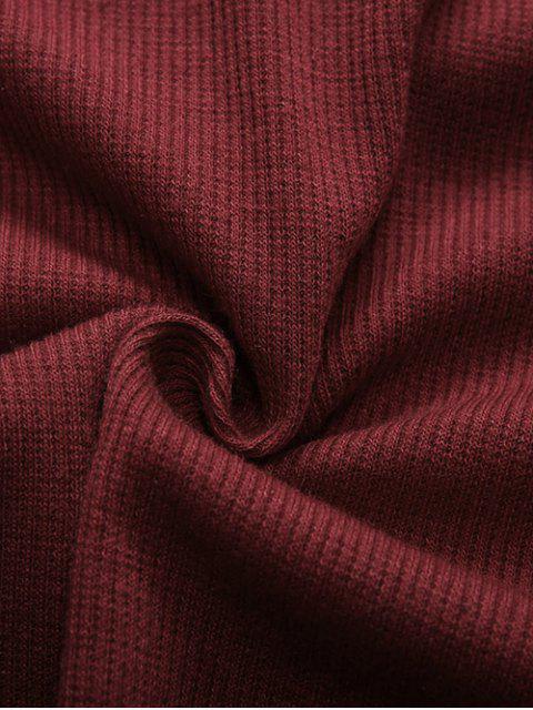 Combinaison à manches longues à épaules dénudées à lacets - Bourgogne XL Mobile