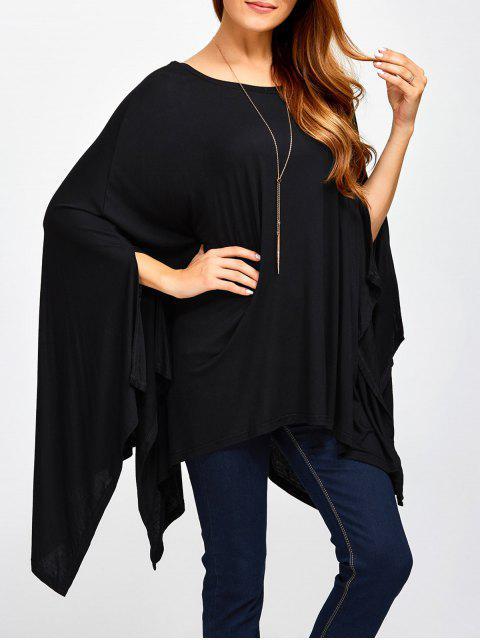 Asymétrique Scoop Neck Cape T-shirt - Noir 2XL Mobile