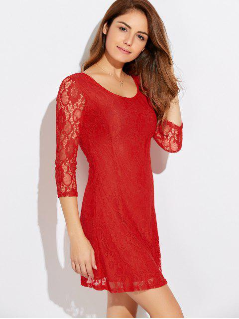 latest Short Lace Dress With Sleeves - JACINTH M Mobile