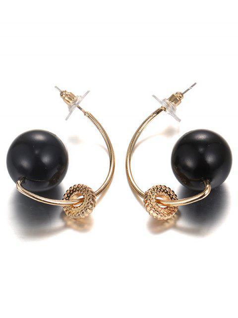 best C Letters Shape Earrings - GOLDEN  Mobile