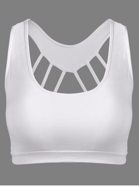 women's Padded Back Strappy Yoga Top -   Mobile
