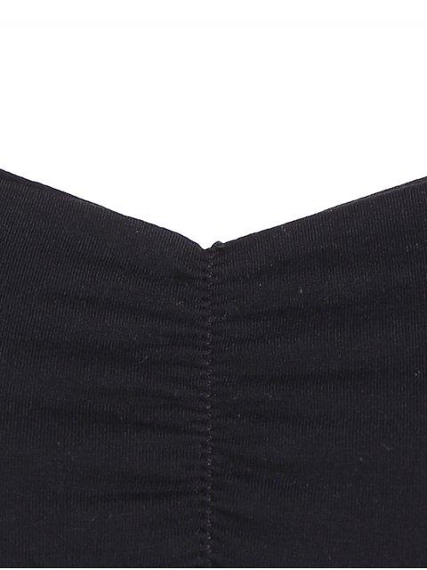 hot Padded Cropped Bandage Yoga Top - BLACK ONE SIZE Mobile