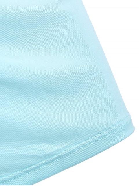 hot Sheath Cut Out Crossed Cami Dress - LIGHT BLUE XL Mobile