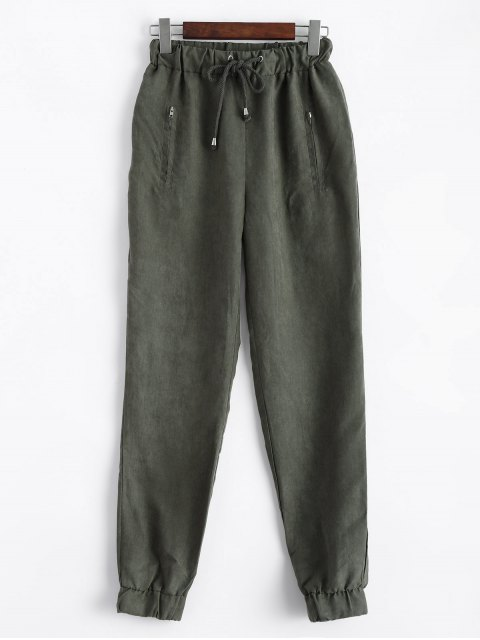 women Suede Carrot JoggingPants - GREEN 2XL Mobile