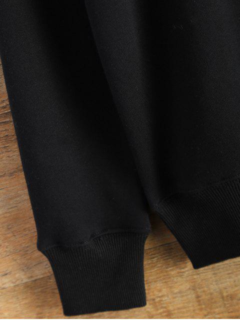 chic Pullover Crewneck Sweatshirt - BLACK L Mobile