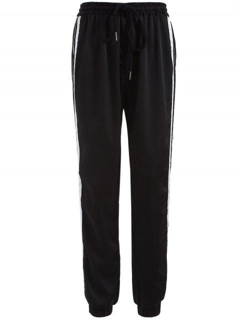 trendy Striped Drawstring Gym Pants -   Mobile