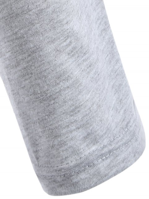 outfits V Neck Surplice T Shirt - GRAY XL Mobile