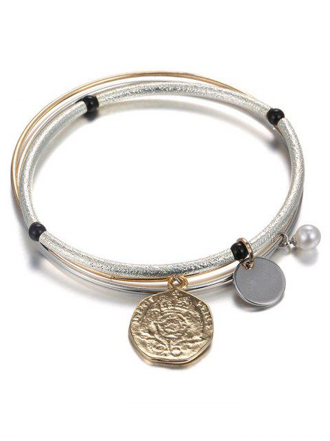 sale Layered Coin Bracelet - CHAMPAGNE  Mobile