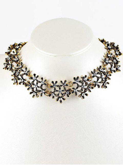 new Rhinestoned Snowflake Choker Necklace -   Mobile
