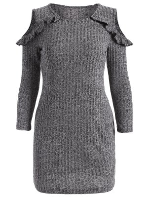 Cold Shoulder Bodycon Sweater Dress