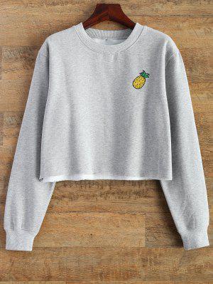 Unbearbeiteter Saum Crop Pullover