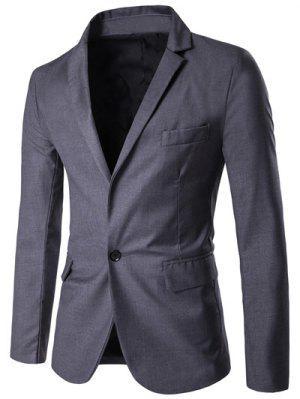 Revers Simpeler Ein Knopf Anzug