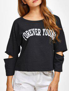 Buy Cut Forever Young Tee XL BLACK