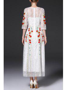 Lace maxi evening dress