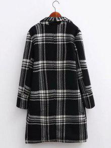 ... Oversized Plaid Long Wool Coat ...
