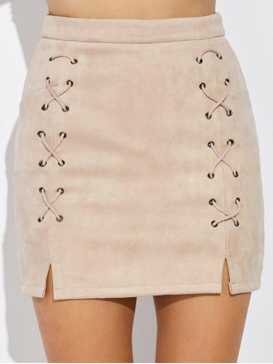 تنورة سويدي اصطناعي - ناقص XL