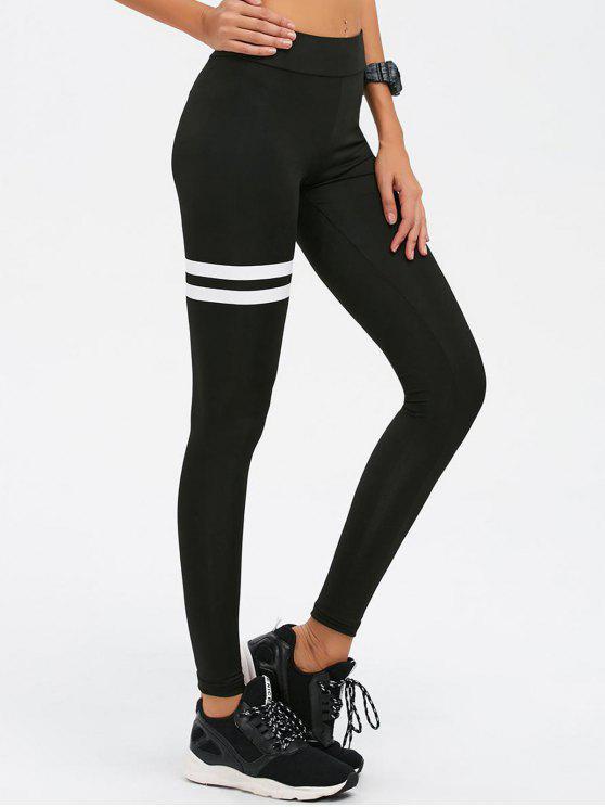 chic Skinny High Waist Gym Leggings - BLACK M